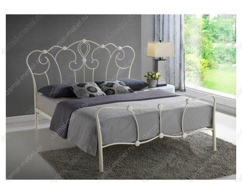 Кровать Agata 160х200 бежевая