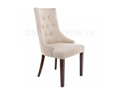 Стул Elegance dark walnut/fabric cream